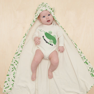 Organic Cotton Bodysuit Onesie- Homegrown Pea
