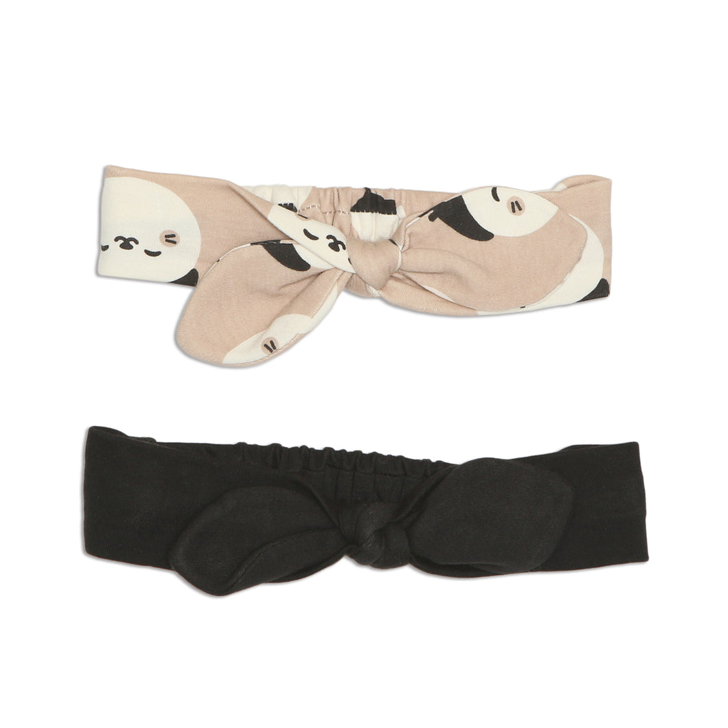Organic Cotton Headband 2pack (French Cat Print/Pirate Ship)