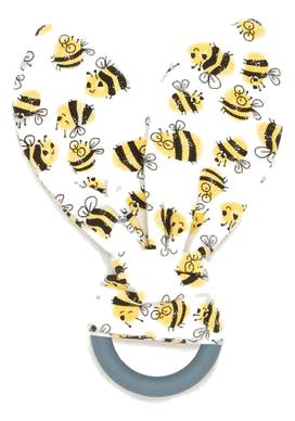 Bees Teething Ring (Organic Cotton)