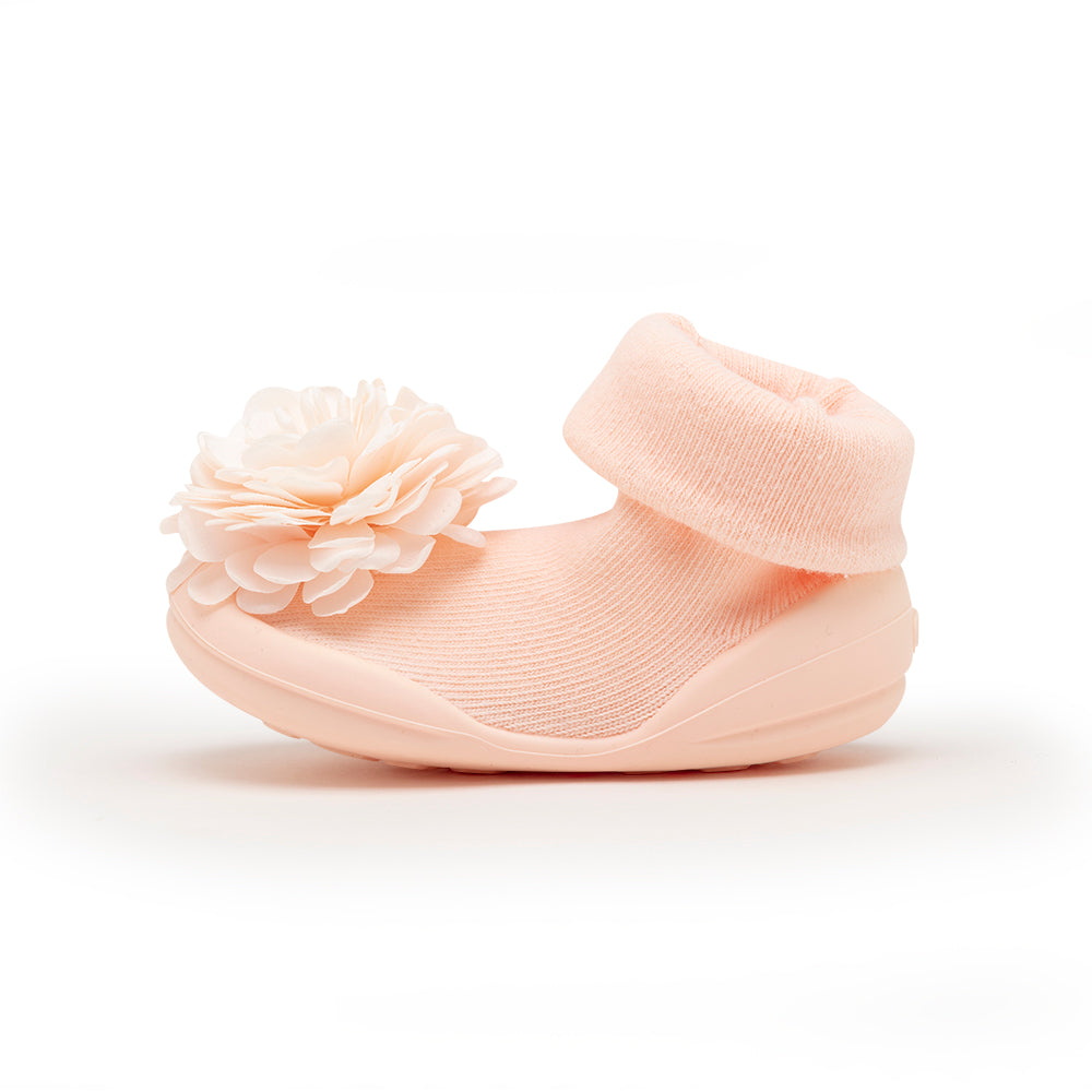 Corsage Pink Sock Shoes