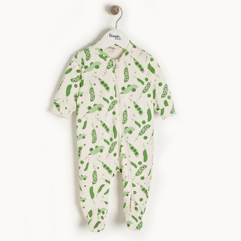 Sweet Pea Zip Footie (Organic Cotton)