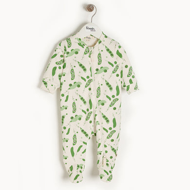 Organic Cotton Cypress Zip Front Footie- Sweet Pea