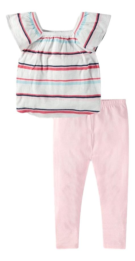 Multi Stripe Top with Pants Set