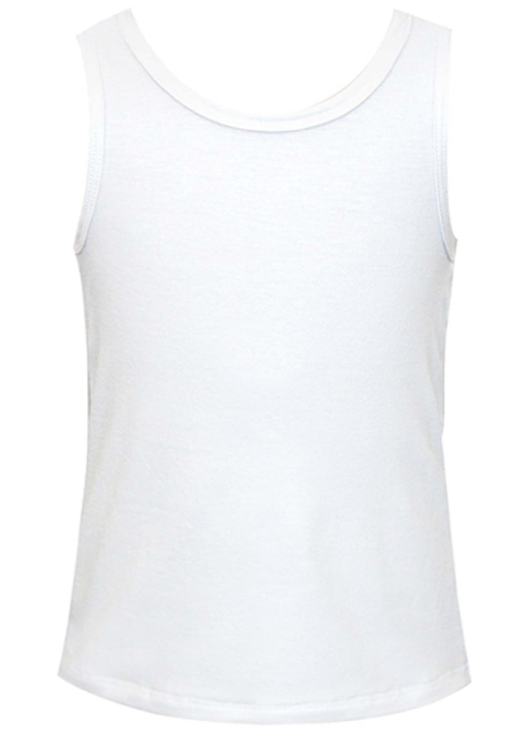 Basic Racer- White Tank Top