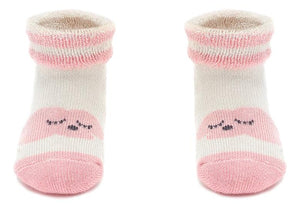 Organic Cotton Happy Cloud Bootie Baby  Socks (0-24 Months)