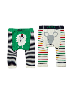 Sheep and Mouse Baby Knit Leggings (2 Pack)