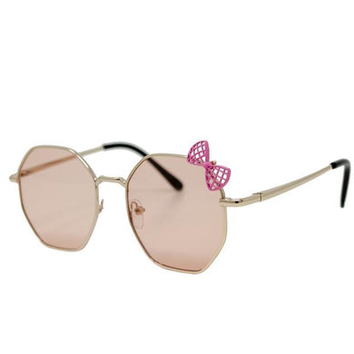 Pink Bow Sunglasses- Rose Gold