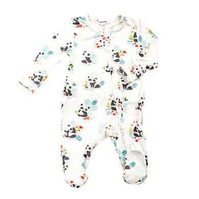 Panda Zippered Footie with Ruffles (0-9 Months)