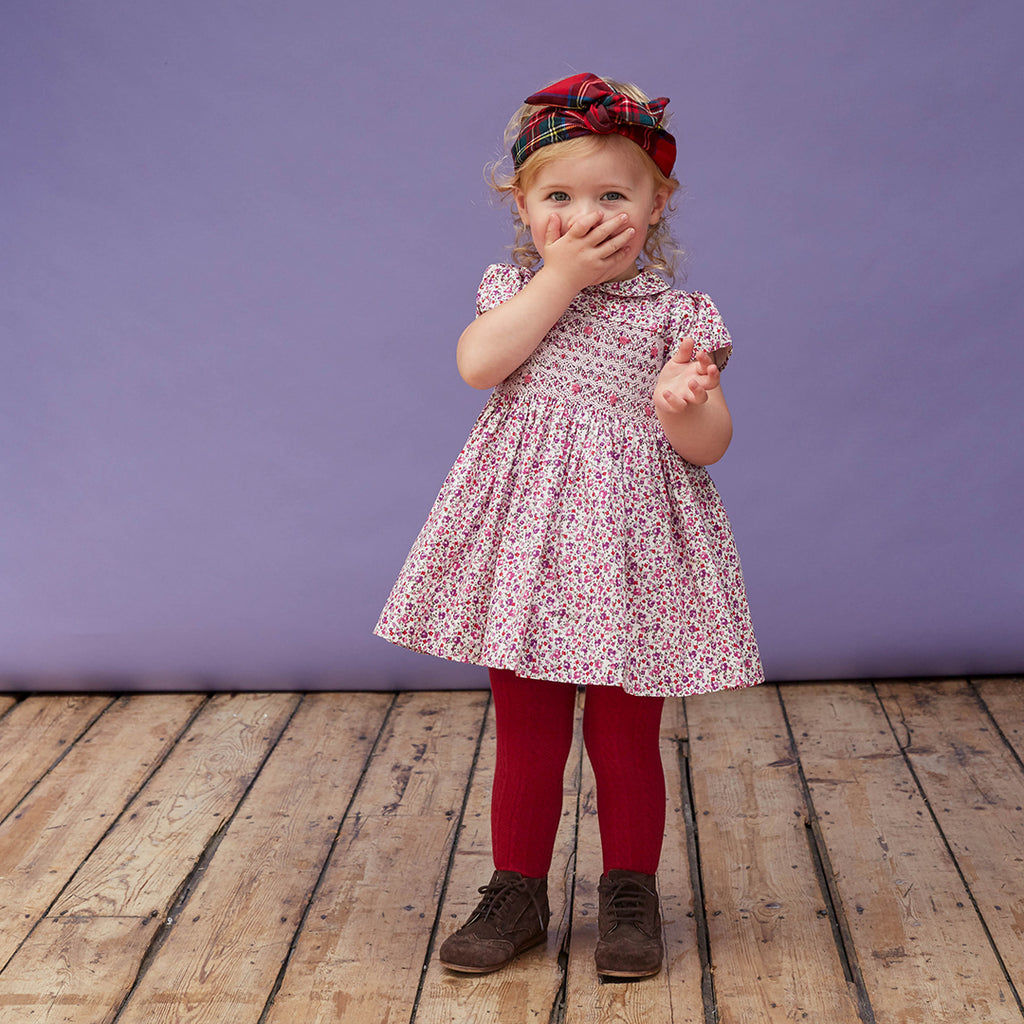 Penelope Hand Smocked Floral Dress