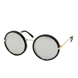 Round Sunglasses- Black/Gold