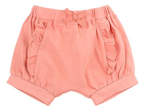 Coral Pink Ruffle Short (Organic Cotton)