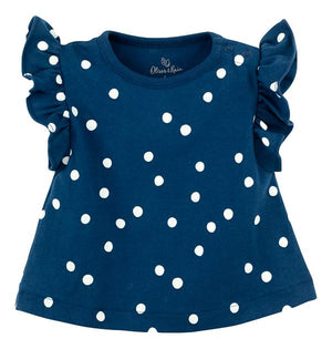 Navy Dot Tee (Organic Cotton)