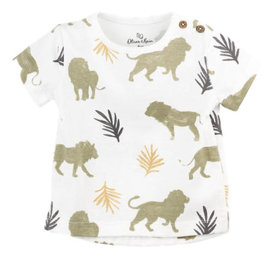 Lion Print Graphic Tee (Organic Cotton)