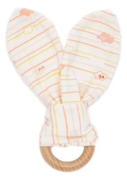Organic Cotton SANTA CRUZ - Baby Cloud Teething Ring PEACH