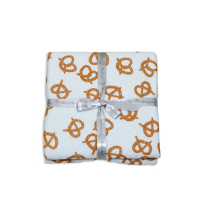 Bamboo Extra Large Quilted Blanket- Pretzels