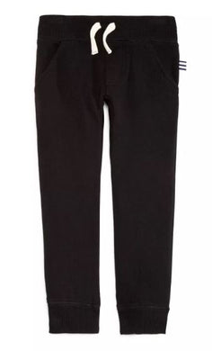 French Terry Jogger Pants- Black