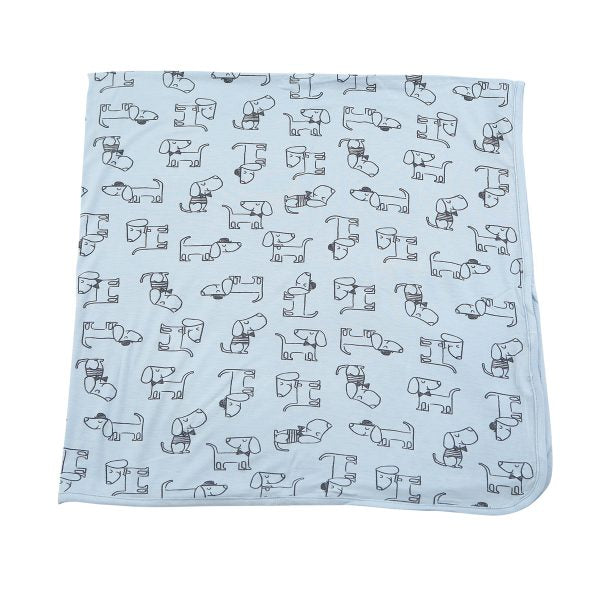Blue Dog Swaddle Blanket (Bamboo)