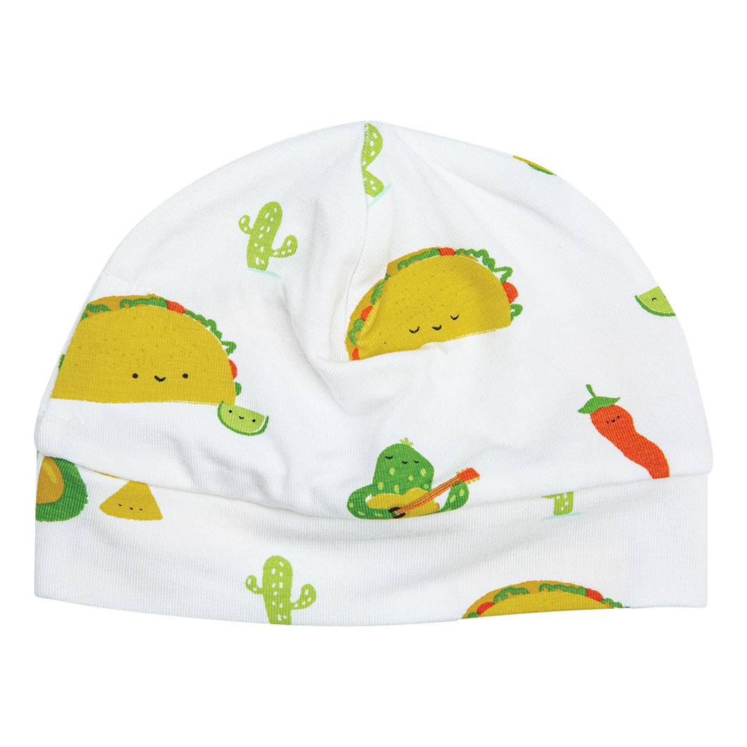 Taco Party Beanie Hat (0-3 Months)
