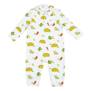Taco Party Romper with Pockets