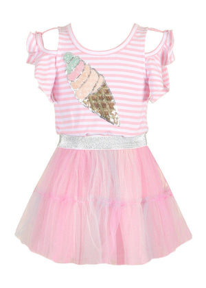 Ice Cream Tutu Towfer Dress (2-6X)