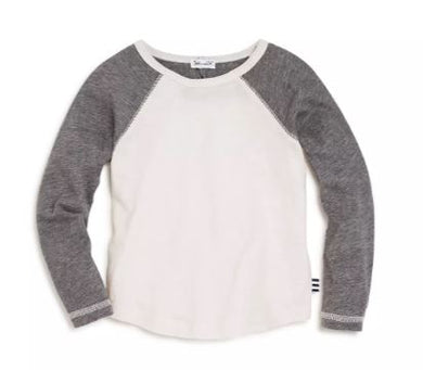 Two-Tone Raglan Tee (White/Heather Gray)