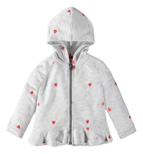 Load image into Gallery viewer, Toddler Girl Schiffli Heart Hoodie