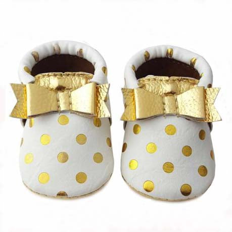 Polka Dot Bow Moccasin
