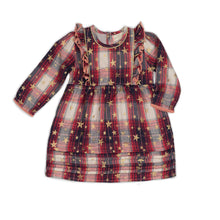 Load image into Gallery viewer, Metallic Plaid Elodie Dress