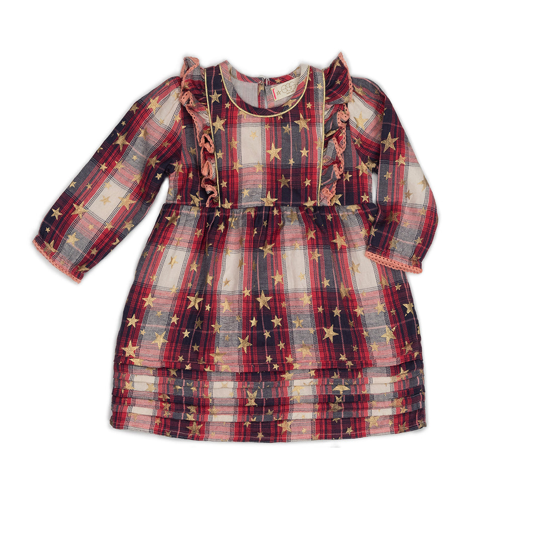Metallic Plaid Elodie Dress