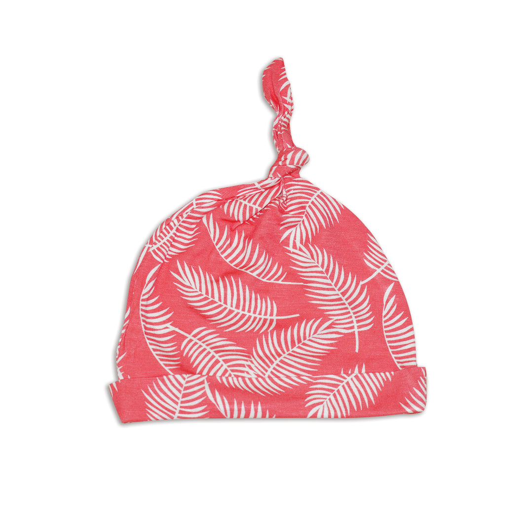 Bamboo Knot Hat (Breezy Leaves Print)