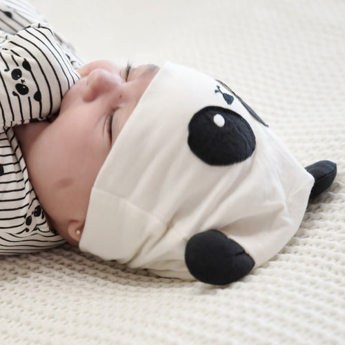 Bamboo Beanie with Ears (Panda)