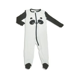 Panda Zipper Footie (Bamboo)
