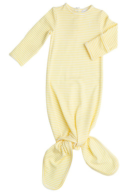 Yellow Stripes Newborn Knotted Gown (Newborn-3 Months)