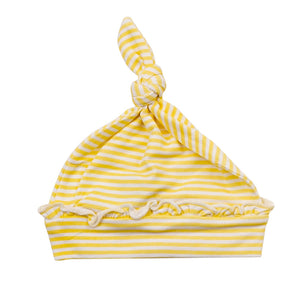 Yellow Stripes Knotted Hat (0-3M)