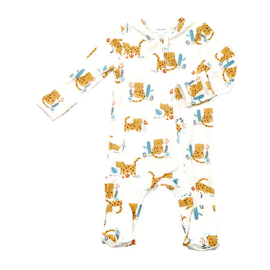 Cheetahs Zippered Footie (0-9 MONTHS)