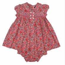 Load image into Gallery viewer, Emma- Hand Smocked Button Front Baby Dress