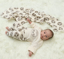Load image into Gallery viewer, Organic Cotton Bodysuit & Pant Set (Happy Sloth Print)