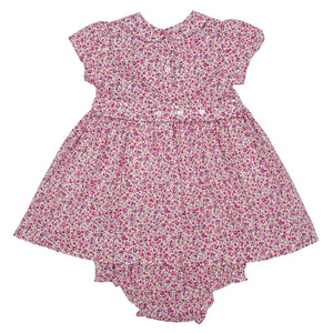 Penelope- Hand Smocked Floral Baby Dress