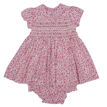 Load image into Gallery viewer, Penelope- Hand Smocked Floral Baby Dress