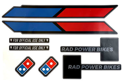 Domino's Bike Decals