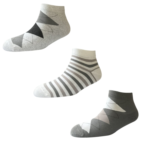 Men's Fashion AL02 Pack of 3 Cotton Ankle Socks