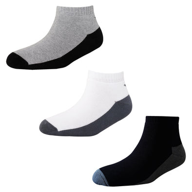 Men's Solid TS02 Pack of 3 Cotton Terry Sports Ankle Socks