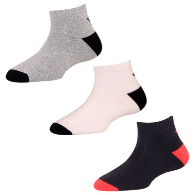 Men's Solid TS03 Pack of 3 Cotton Terry Sports Ankle Socks
