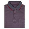 Men's Double Mercerised Ultra comfort Egyptian Cotton Half Sleeves Jacquard design Tiny Checks Polo Shirt