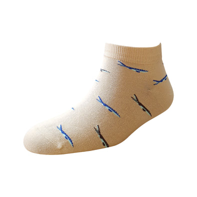 Men's YW-M1-229 Fashion Aeroplane Ankle Socks