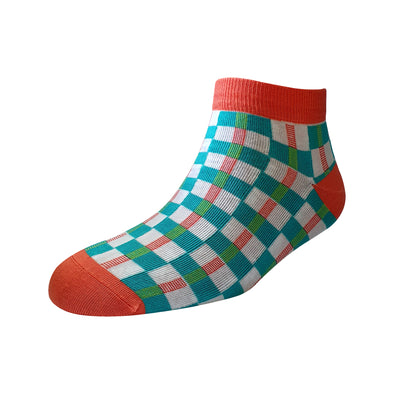 Men's YW-M1-236 Fashion Checks Ankle Socks
