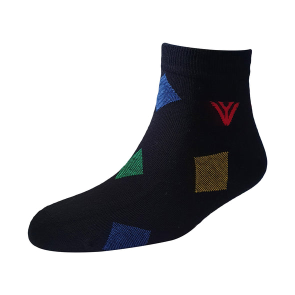Men's YW-M1-225 Fashion Diamond Ankle Socks