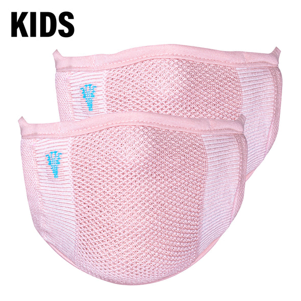 2-Layer Anti-Bacterial Protection Mask for Kids, Fashion Coloured -Size - Small (3-7 Yrs) - Pack of 2