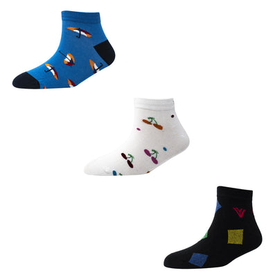 Men's AL09 Pack of 3 Ankle Socks