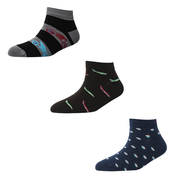 Men's AL010 Pack of 3 Ankle Socks